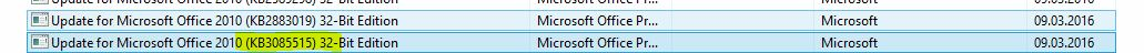Fehler-durch-Update-KB3085515
