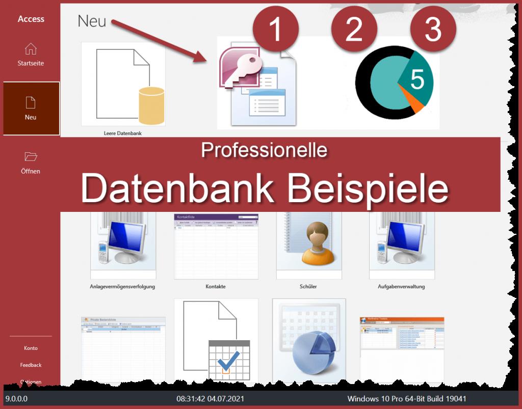 Access Datenbank Beispiele